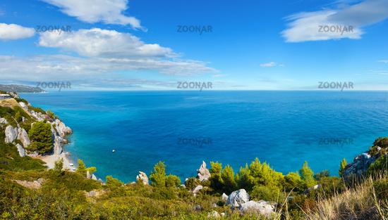 Summer sea coast, Halkidiki, Greece