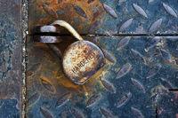 Rusty padlock