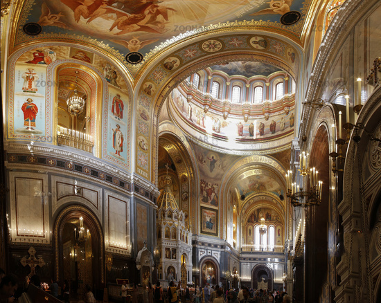 Photo Interior Of Christ Savior Cathedral Moscow Russia