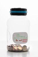 Modern piggybank for coins  on white background. Money. Coin bank.