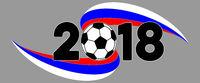 Fußball WM 2018 Banner mit Russland Flagge