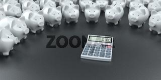 White Piggy Banks Calculator