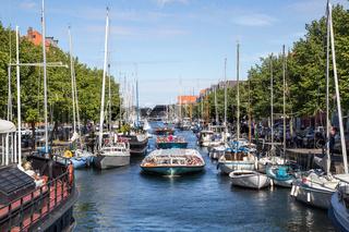 Christianshavn channel in Copenhagen, Denmark