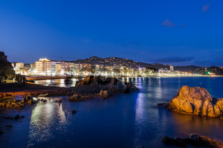 Seascape With Skyline Of Lloret de Mar Town