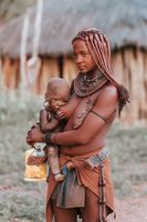 Himba woman with their child, Namibia Africa