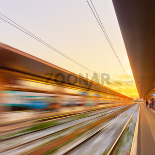 Railway station - abstract background