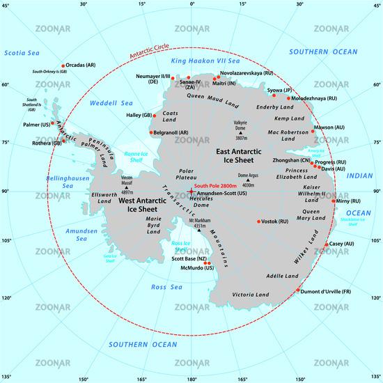 antarctic vector map