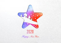 Happy new year 2020 rainbow card