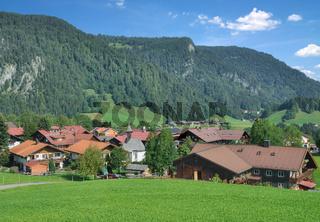 Urlaubsort Kornau bei Oberstdorf im Allgaeu,Bayern,Deutschland