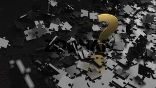 Black Puzzle Golden Question