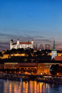 Nightfall in Bratislava