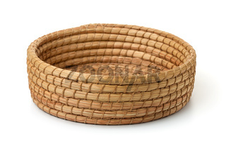 Round cane wicker basket