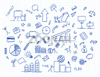 hand drawn business doodle element