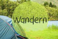Lake Camping, German Word Wandern Means Hiking