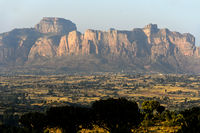 Mountains rising from the Hawzien plain, Hawzien, Tigray, Ethiopia