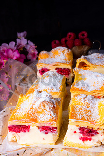 Karpatka - a delicious Polish pudding cake
