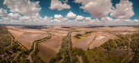 Aerial view of a landscape in Spain / Andalusia with nice weather