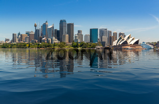 Dramatic panoramic photo Sydney harbor
