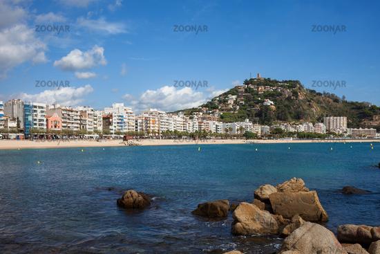 Town of Blanes on Costa Brava
