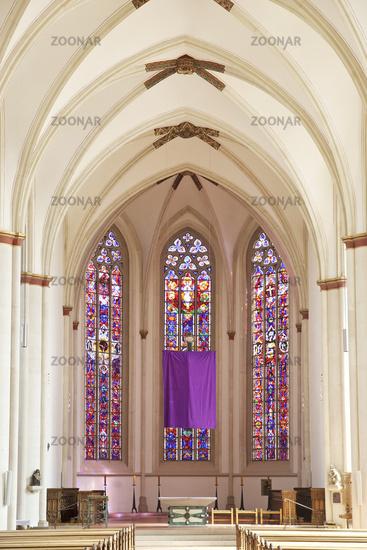 Ueberwasserkirche, inside view, Muenster, North Rhine-Westphalia, Germany, Europe