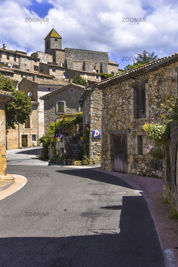 narrow street through the village Aurel