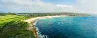 Panoramic coastal views  of Sydney Coastline