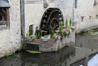 Wassermühle in Bayeux, Normandie
