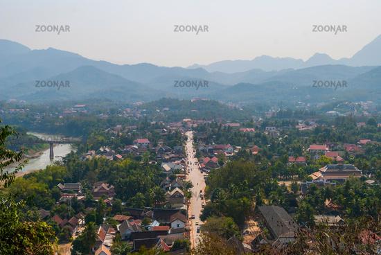 View over Luang Prabang, Laos