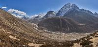 Village Dingboche at Mountain Ama Dablam