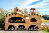 Outdoor Pizza Oven Seen in Tuscany, Italy
