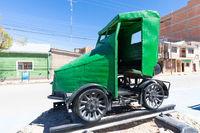 Bolivia Uyuni ancient railway vehicle