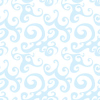 Vector seamless pattern background with blue swirl.