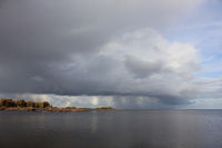 Dramatic sky over Lake Vanern, Sweden.