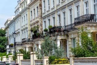 Verfallende traditionelle viktorianische Häuser