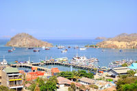 View of the harbor of Labuan Bajo Flores Indonesia