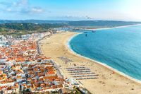 Cityscape of Nazare. Portugal