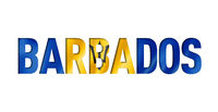 barbados flag text font