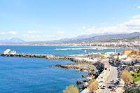 Rethymno harbor Crete Greece