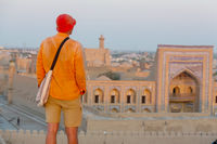Tourist in Uzbekistan