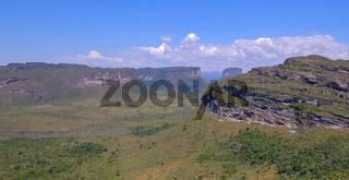 Chapada Diamantina National Park landscape with Morro Do Morrao mountain, view from Morro Do Pai Inacio, Lencois, Brazil