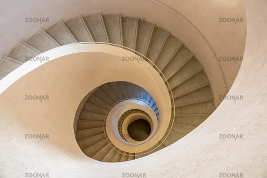typical modern stone staircase