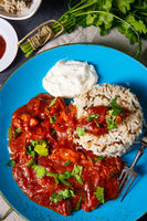 Indian Chicken Tikka Masala with wild rice