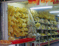 dried seafood in the store Tai O village