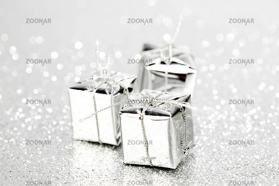 Boxes with holiday gifts