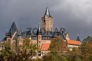 Blick auf das Schloss Wernigerode