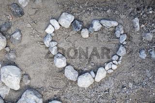 Steinherz auf dem Boden