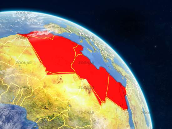 North Africa from space