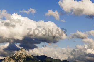 Sturmwolken über dem Gipfel