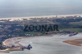 Insel Amrum, Luftbild vom Schleswig-Holsteinischen Nationalpark Wattenmeer