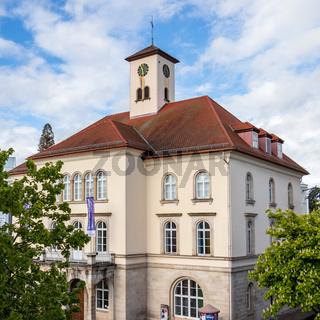 Sindelfingen, Baden Wurttemberg/Germany - May 11, 2019: Detail view on City Gallery building, Stadtgalerie.